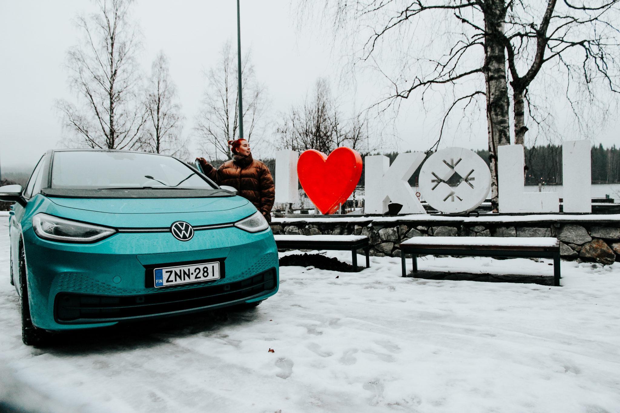 Sähköautolla talvella kolille